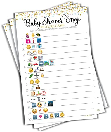 Amazon Com Baby Shower Emoji Picture Game Baby Shower Game