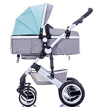 Baby Stroller Coche del Paraguas de Carro de bebé Los niños Pueden Sentarse y Doblar Mini Cochecito portátil (Color : Azul): Amazon.es: Hogar