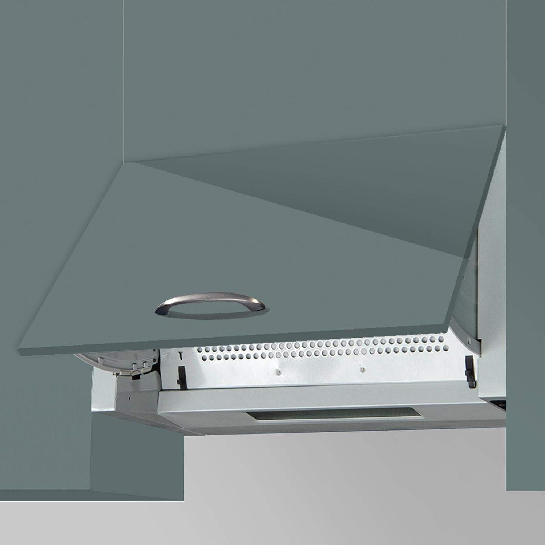 SIA INT60SS Ventilador extractor de cocina integrado de 60 cm, color plateado: Amazon.es: Grandes electrodomésticos