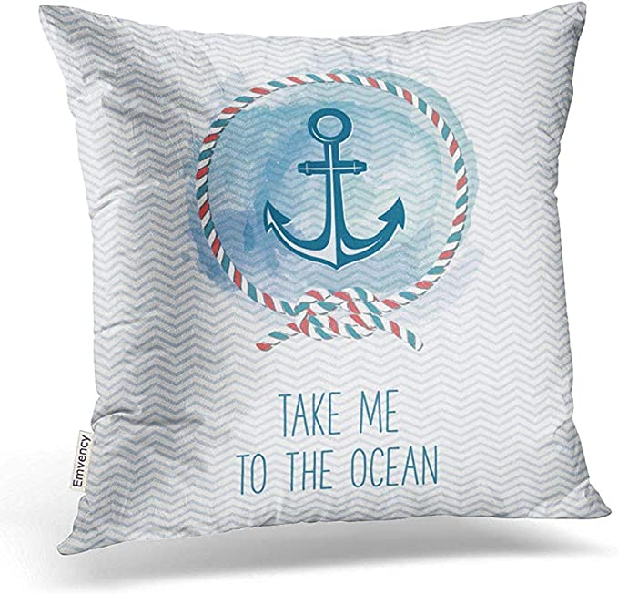 Emvency Throw Pillow Covers Marine Rope