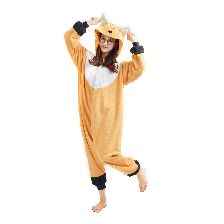 Casa Adulto Kigurumi Pigiama Unisex Cosplay Costume Animale Pigiama Volpe S-XL