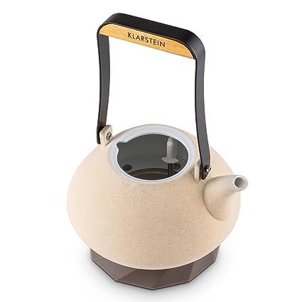 Klarstein Asuka hervidor de agua eléctrico de cerámica (1,2 litros, 1.000-