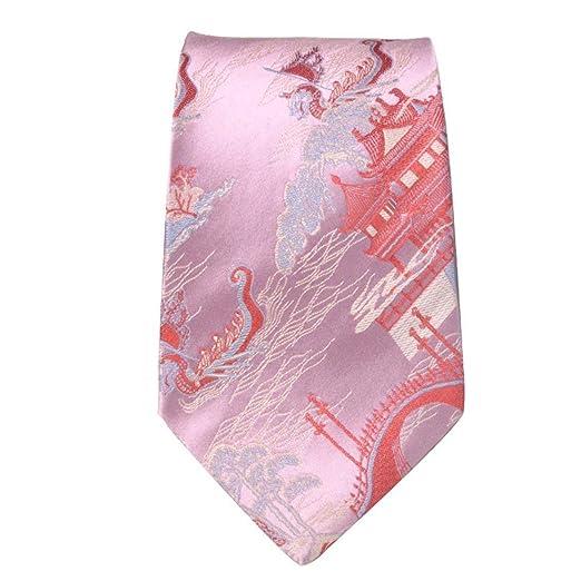 JINQD Home 9 cm Rosa Torre roja Corbata de dragón Estilo Chino 100 ...