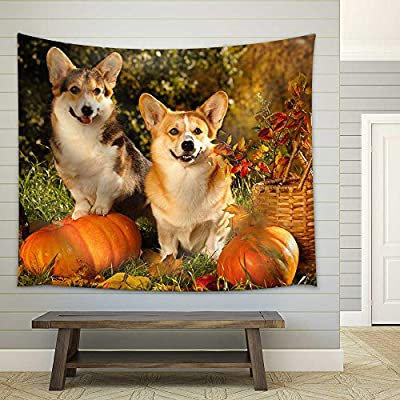 Classic Design, Wonderful Handicraft, Welsh Corgi Pembroke Dog Fabric Wall