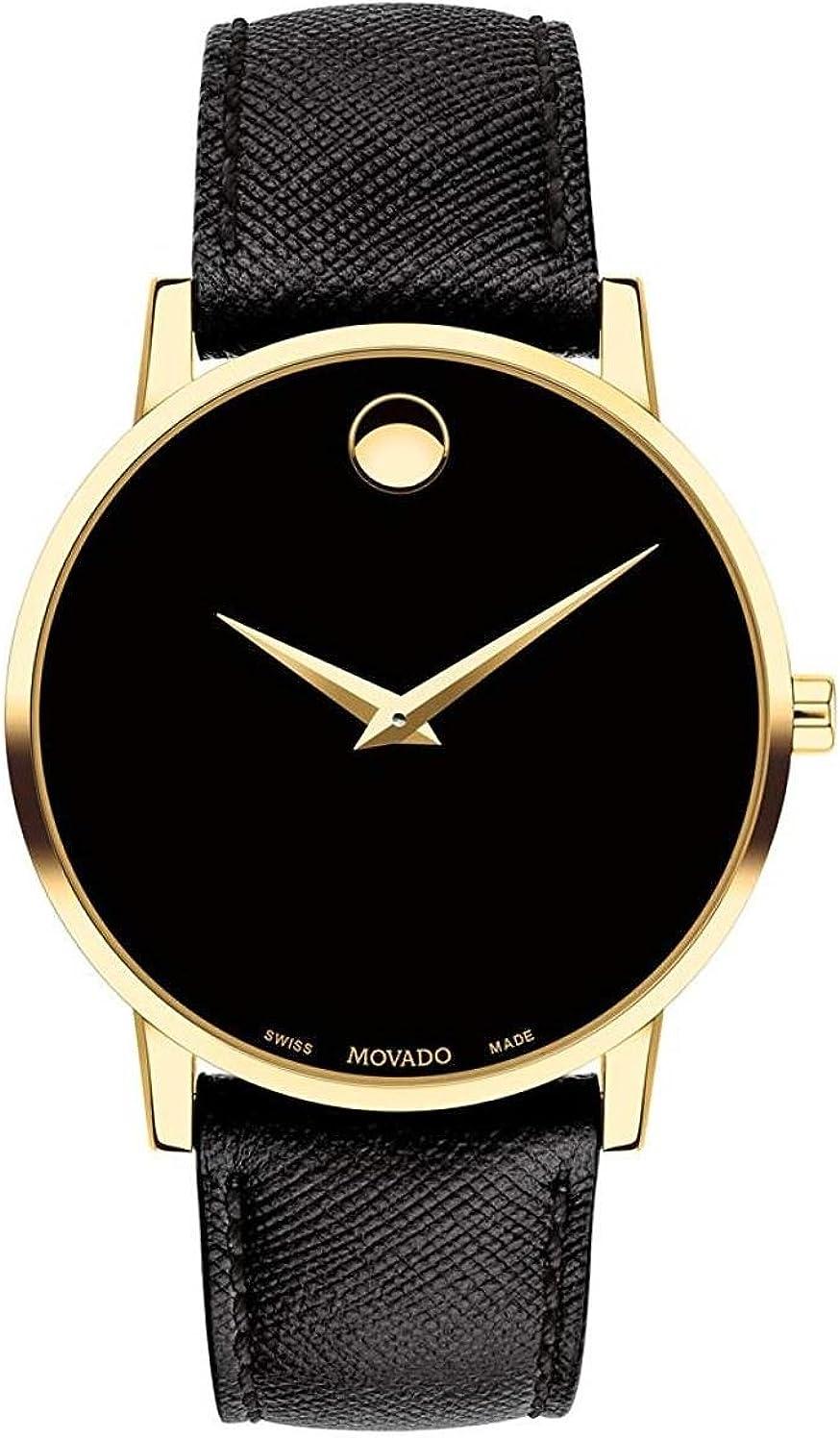 Movado Museum Classic Reloj de Hombre Cuarzo 40mm Correa de Cuero 0607195