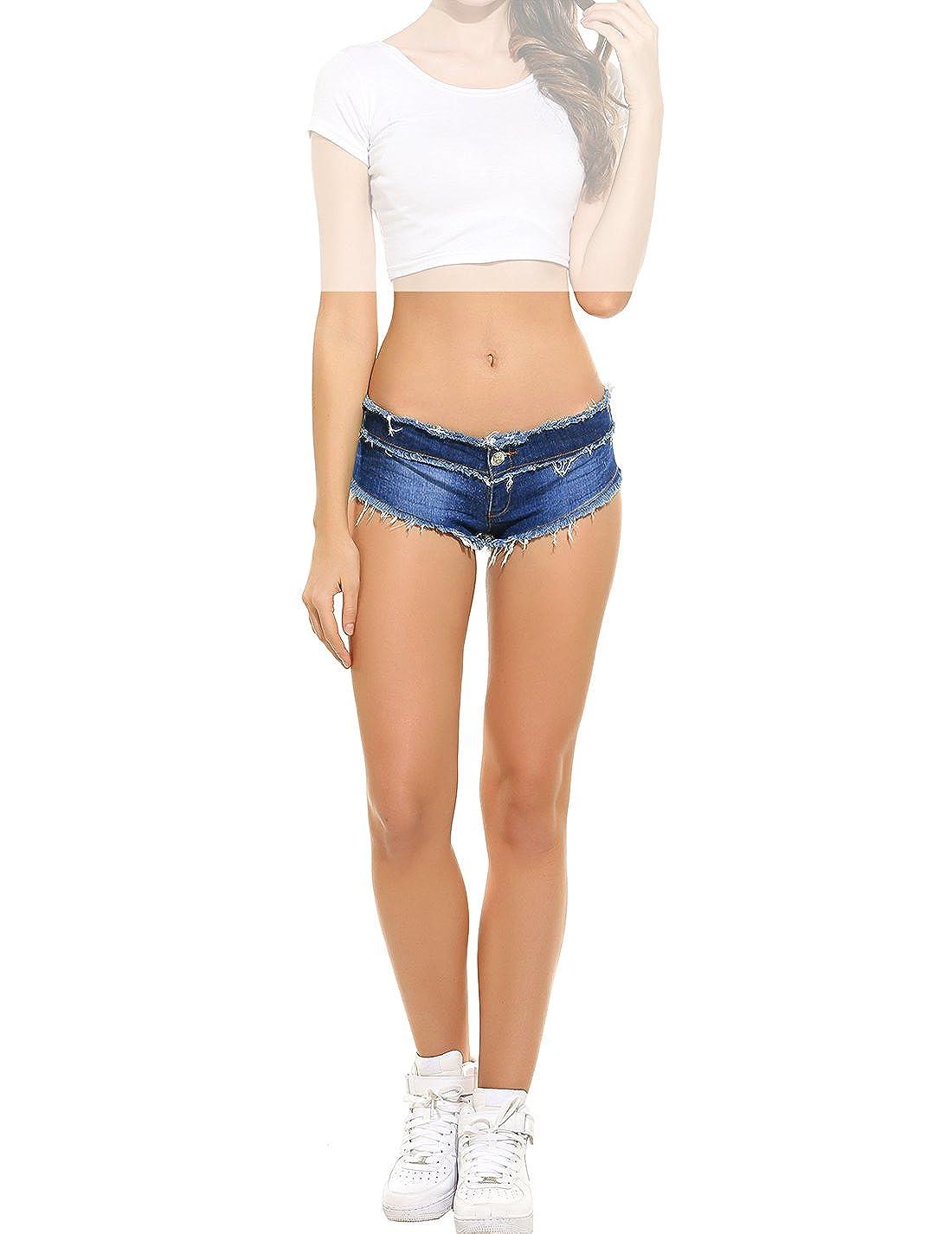 Pour Short Lomon Jeune Mini Femme Taille Basse De Jean Plage Tl3K1JFc