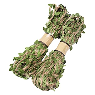 meiyuan 10m Leaf Natural Hessian Jute Twine Rope Burlap Ribbon for DIY Craft Party Rustic Wedding Decor : Garden & Outdoor