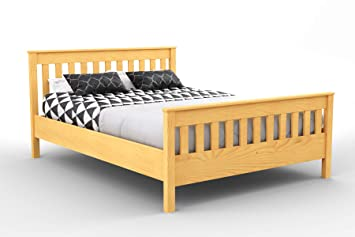 official photos be0a4 0dbd7 Nodax* Wooden Pine King Size Bed Frame F16 (UK King 150 x 200 cm Alder  finish)