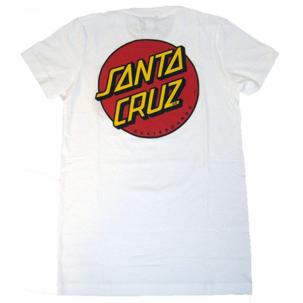NHS Santa Cruz Classic Dot Fine Girls Jersey T-Shirts,White,Small