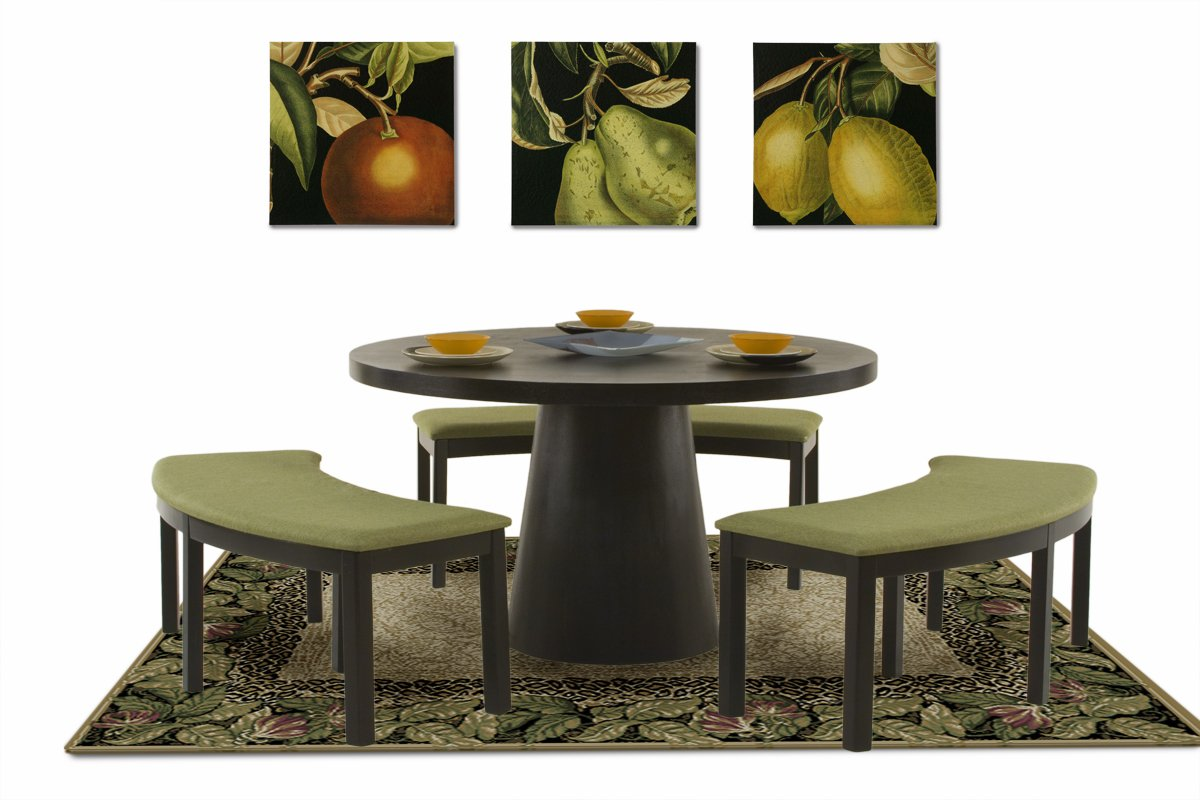 Astounding Amazon Com Diamond Sofa 53 Inch Round Dining Table With Ocoug Best Dining Table And Chair Ideas Images Ocougorg