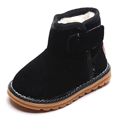 4c7ab92eb0c02 BOZEVON Bébé Bottes de Neige Chaudes Bottes Boots Fourrure Chaud Para  garçons   Filles Bottines Hiver