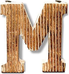 Kaizen Casa Decorative Wood Letter Alphabet Wall Hanging Décor (M)