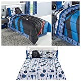 Disney Star Wars Darth Vader Reversible Comforter, Sheets and Pillow Case Set