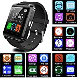 CASVO Motorola Photon Q 4G LTE Compatible Smart Android U8 Bracelet Watch and Activity Wristband, Wireless Bluetooth Connectivity Pedometer, Black,