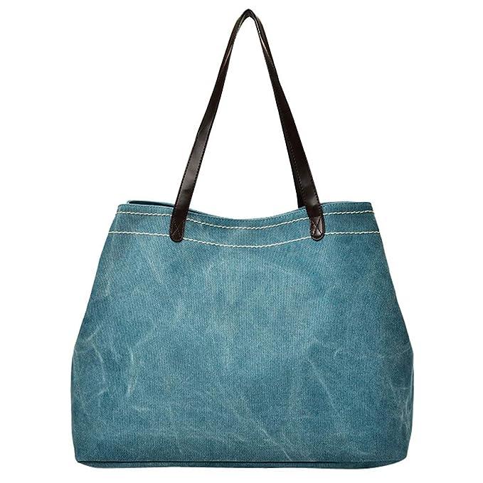 0c5ab6cec5cea5 MOIKA Borse a Mano da Donna/Zaino Grande/Borse Shopping-Borsa a Tracolla  Tela 16.53(L) x8.26(W) x12.99(H) Pollici: Amazon.it: Abbigliamento