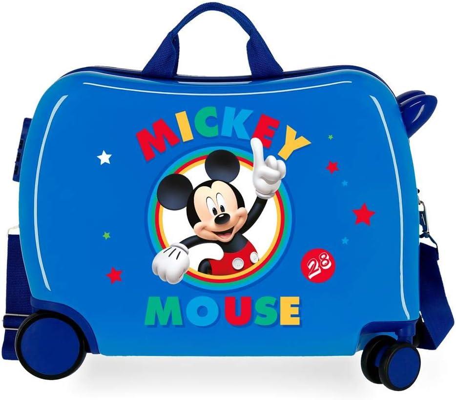 Maleta Infantil 2 Ruedas multidireccionales Circle Mickey Azul