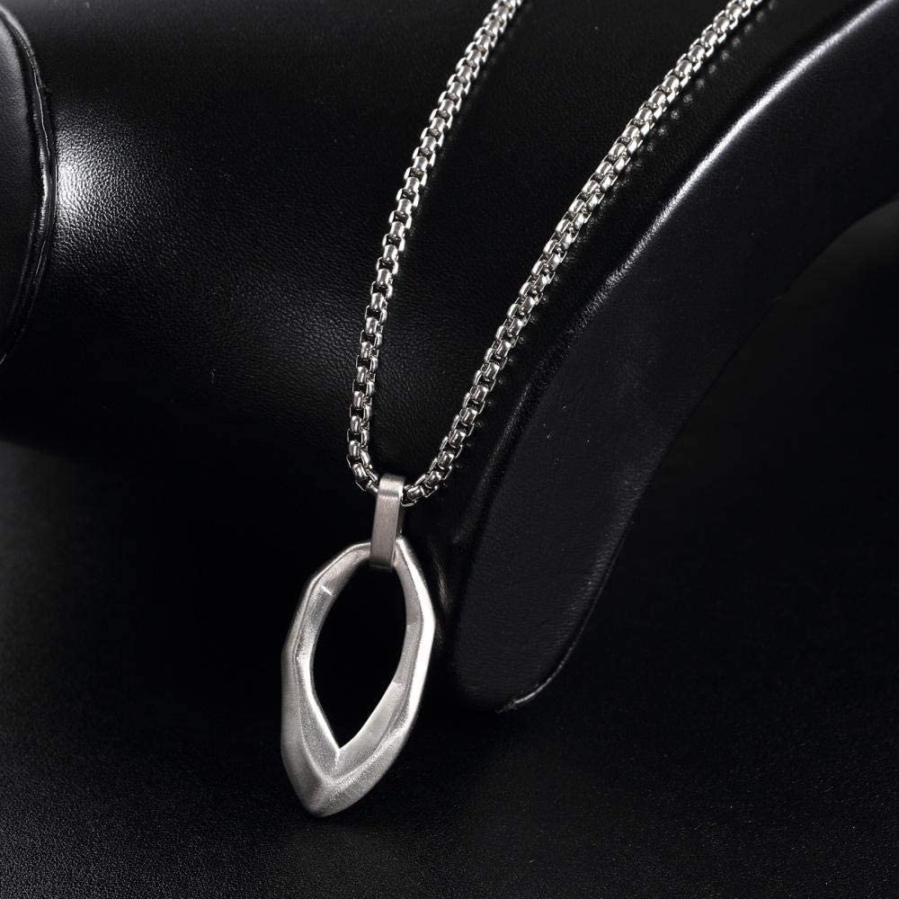 HAMANY Necklace,Mens Necklaces,European and American Mens Simple Pendant Fashion Personality Titanium Steel Necklace