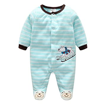 989a35b41 Baby Girls Boys Cartoon Costumes Infant Outfit Baby Romper Sleepsuit Fleece  Polar Bear/80cm