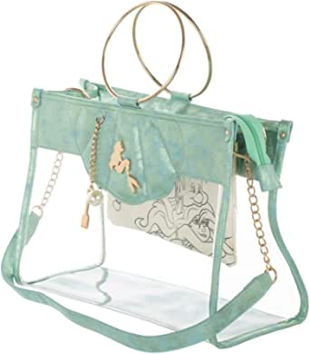 The Little Mermaid Tote Handbag with Removable Pouch