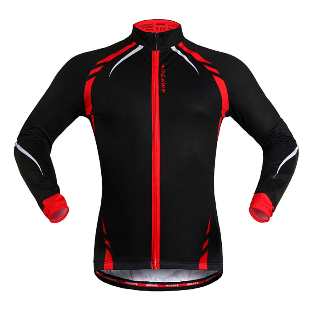 Fashion Unisex Cycling Coat Autumn Winter Spring Thermal Fleece Cycling Jacket