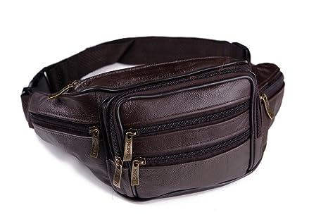 Paquetes de cintura bolsa de cinturón de piel Para Hombre cinturón de cintura Bolsas Bolsas para teléfono bolsa macho bolsa de viaje de piel Fanny ...