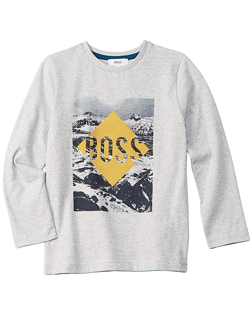 BOSS Boys T-Shirt with Mountains Print Sizes 6-16