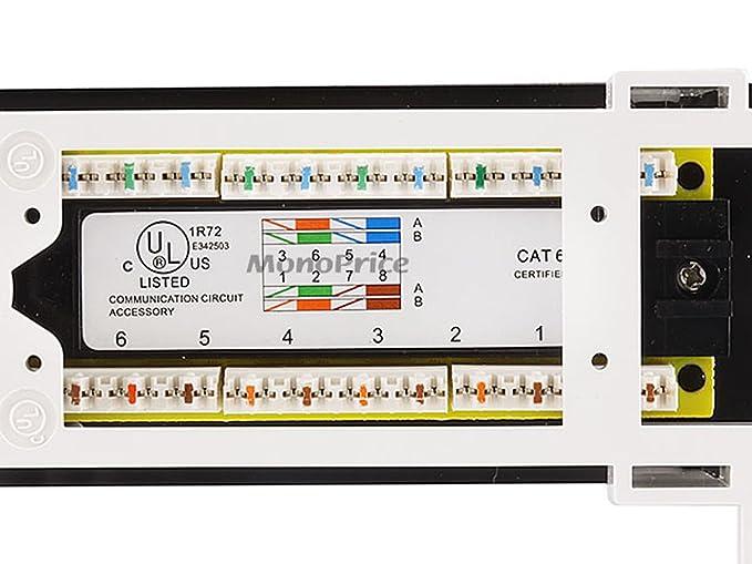 amazon com monoprice 12 port vertical cat6 mini patch panel 110 rh amazon com