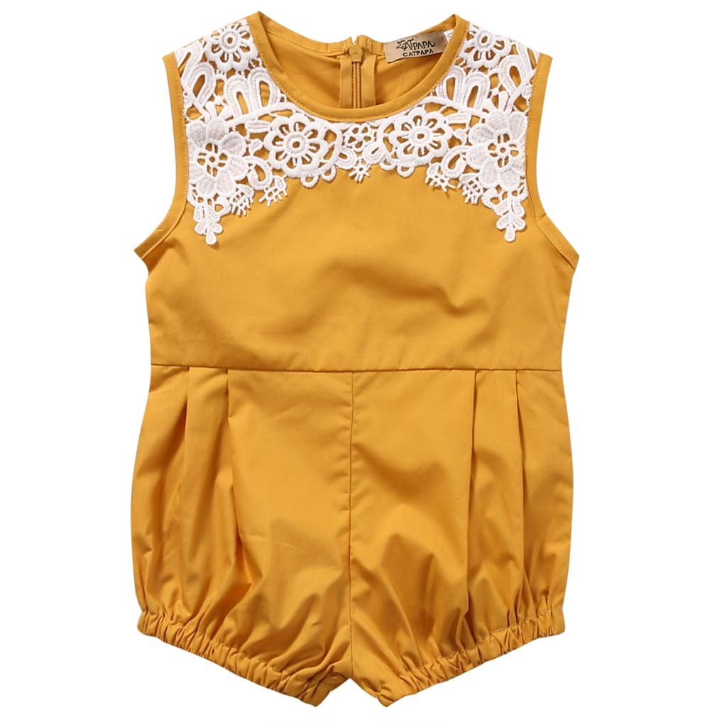 TTStore Infant Boys Girls Newly 0-24M Cute Newborn Baby Girl Clothes Sleeveless Romper Playsuit One Pieces Outfit Sunsuit