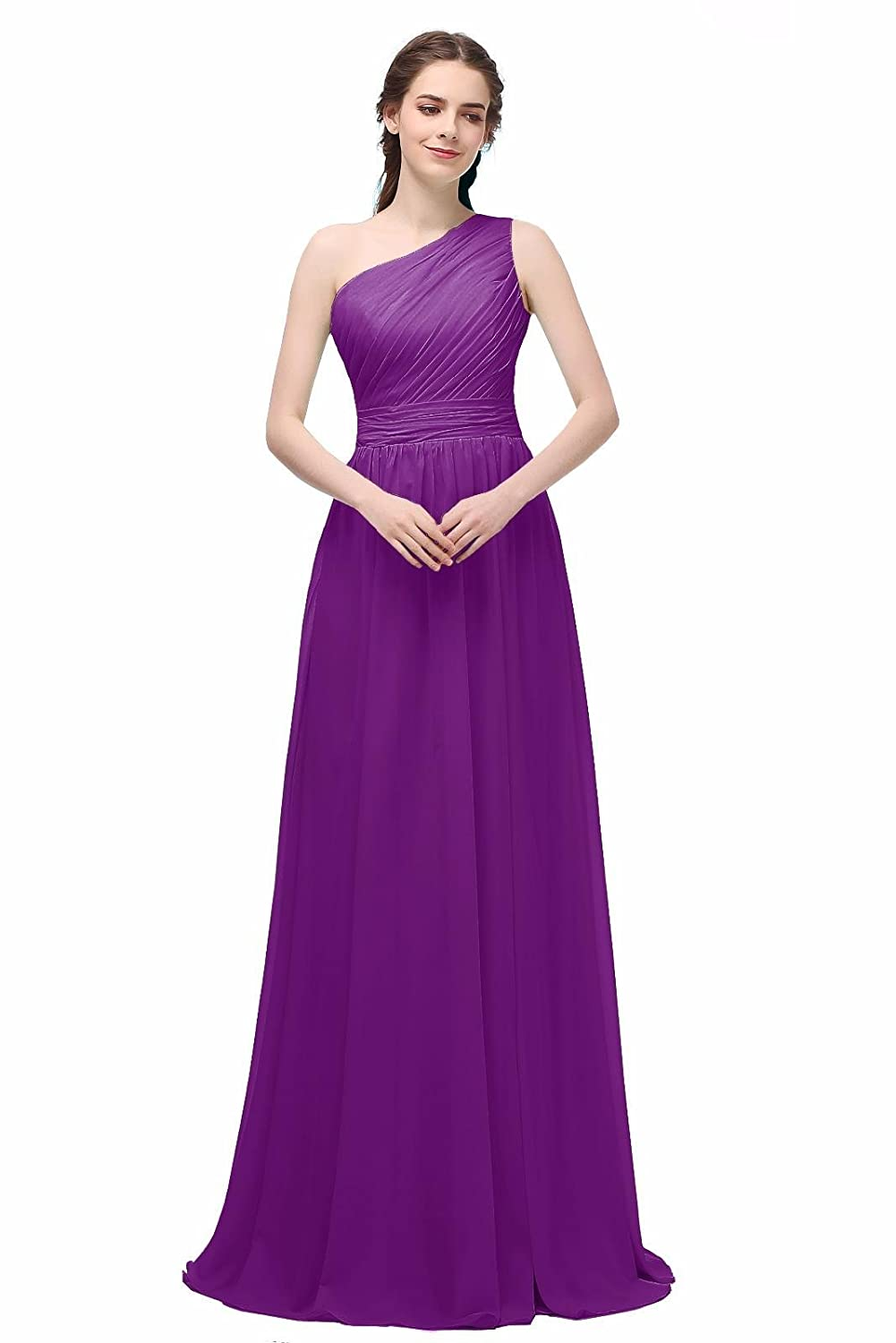 Ever Girl Women's Bridesmaid Chiffon Prom Dresses Long Evening Gowns