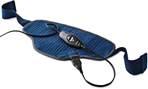 Sunbeam Heating Pad for Pain Relief | Standard Size Hot & Cold Therapy, 3 Heat Settings with Auto-Shutoff | Blue, 11-Inch x 21-Inch