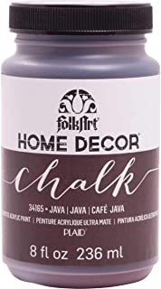 product image for FolkArt Home Decor Chalk Furniture & Craft Paint in Assorted Colors, 8 ounce, Java
