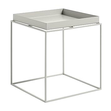 Hay Beistelltisch hay tray table beistelltisch warmes grau 40x40x44cm amazon de
