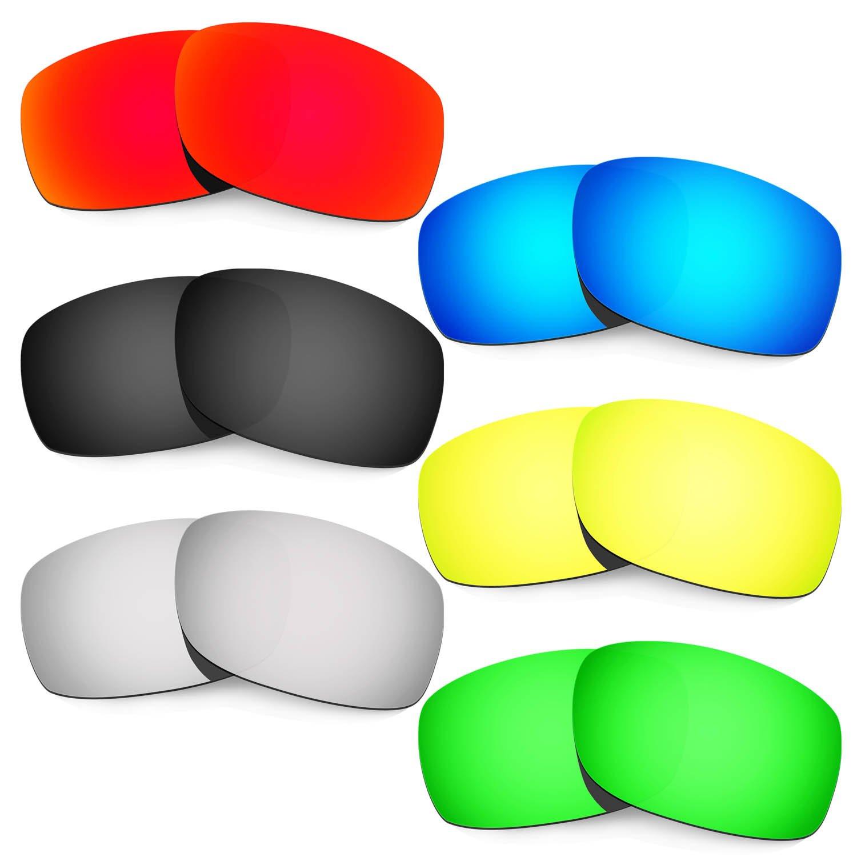 Hkuco Plus 交換用レンズ Oakley Fives Squared レッド/ブルー/ブラック/ゴールデン/チタンカラー/グリーン - 偏光   B01M680K4W
