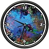 SCUBA DIVER Wall Clock diver dive fins mask gift