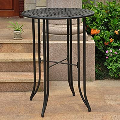 Mandalay Outdoor Iron Bar-Height Table - Round