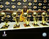 pictures of kobe bryant - Kobe Bryant Los Angeles Lakers 5 NBA Championship Trophies Photo (Size: 8