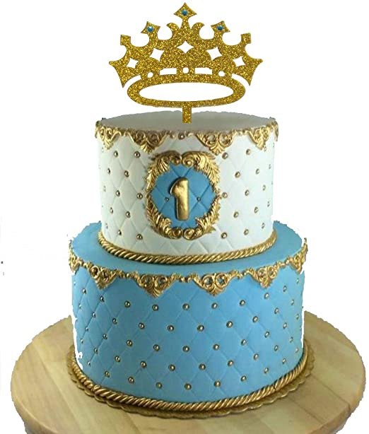 Enjoyable Amazon Com Usa Sales Prince Crown Cake Topper Boy Birthday Funny Birthday Cards Online Elaedamsfinfo