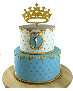 USA SALES Prince Crown Cake Topper Boy Birthday King First