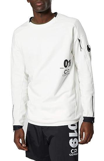 f6d65523 C.P. Company White Man Sweatshirt Crew Neck 06CMSS004A-005160W 101 ...
