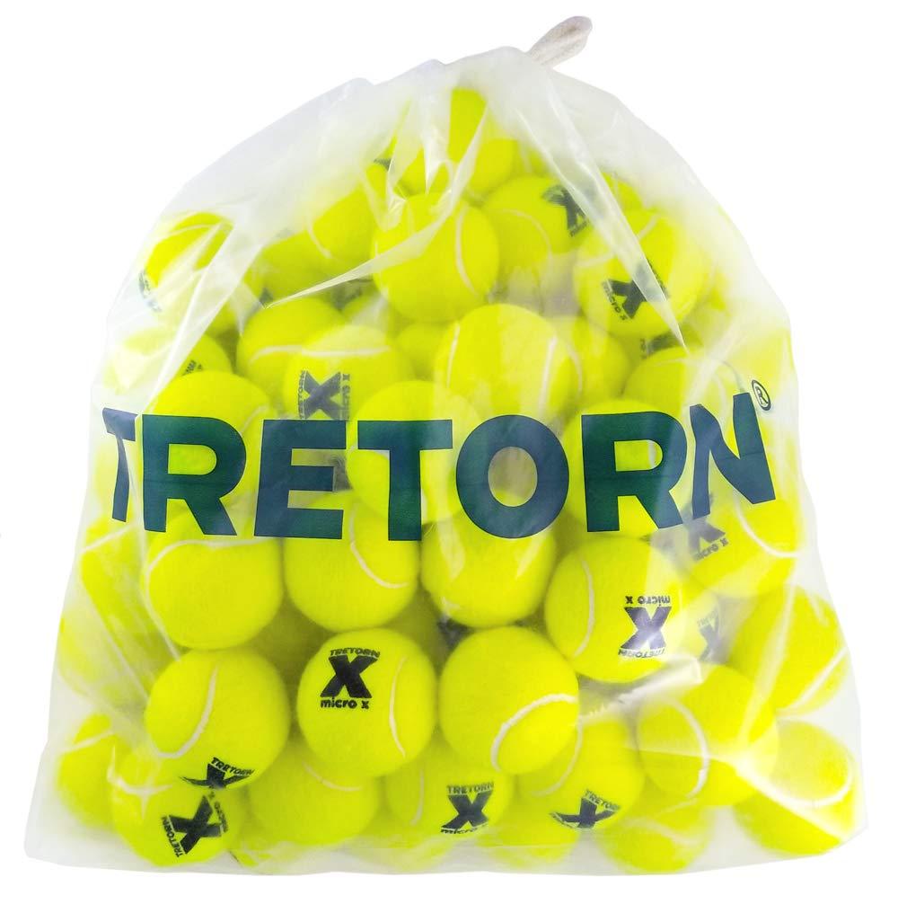 Tretorn Micro-X (Yellow) Pressureless Tennis Balls (Bag of 72 Balls)