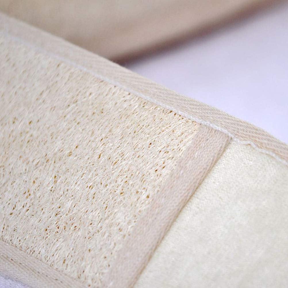 Lurrose 3pcs //set Natural Loofah Sponge Non toxic Environmental Exfolating Sponge for Men