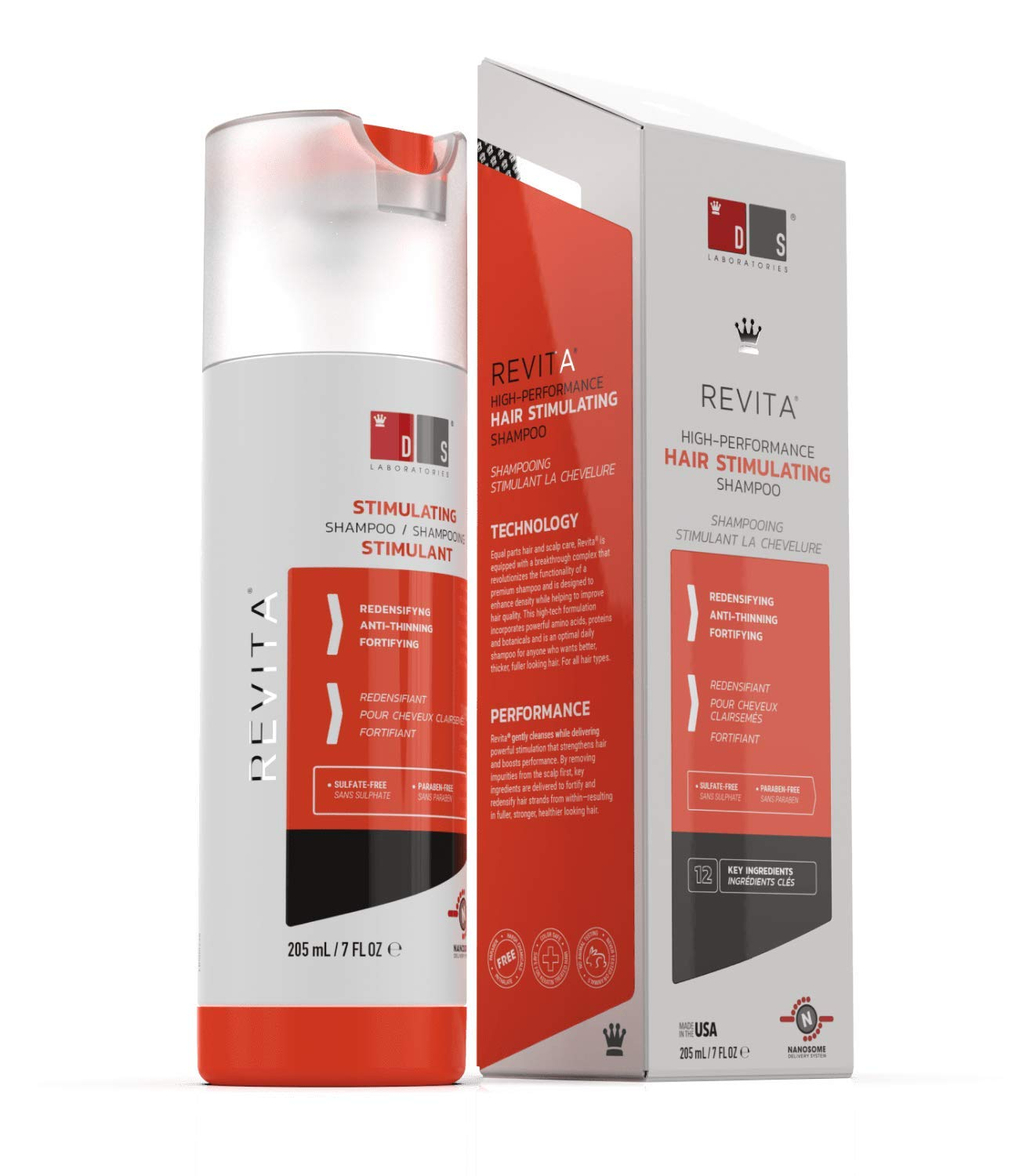 Revita Stimulating Shampoo Supports Hair Loss, Thinning Hair and Scalp - 205ml - Block DHT