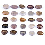 TGS Gems Engraved Inspirational Stones (25 Different Words)