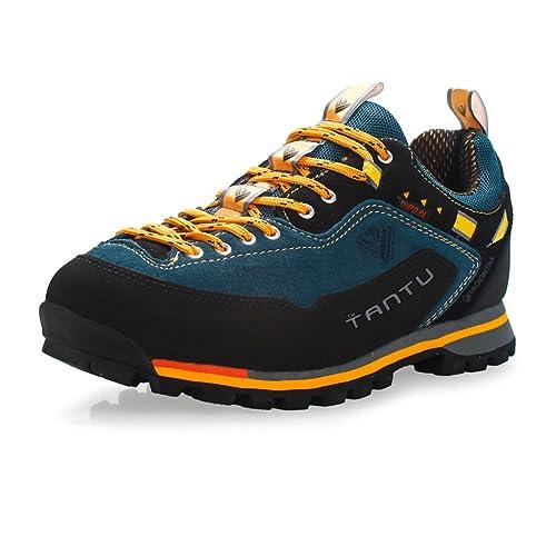 Botas de montaña para Hombre Zapatos Antideslizante Botas de Senderismo Cima mas Alta GOMNEAR