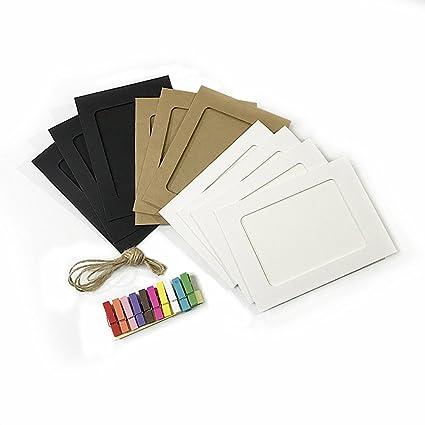 Amazon.com: Unetox Photo Frames Vintage Colorful DIY 4x6 Paper ...