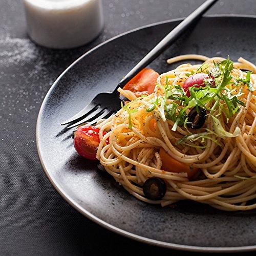 MEIDIHU Cerámica creativa de color sólido plato plano filete plato de pasta plato redondo merienda plato plato de fruta