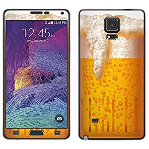 Skin Decal for Samsung Galaxy Note 4 - Beer Illustration on White