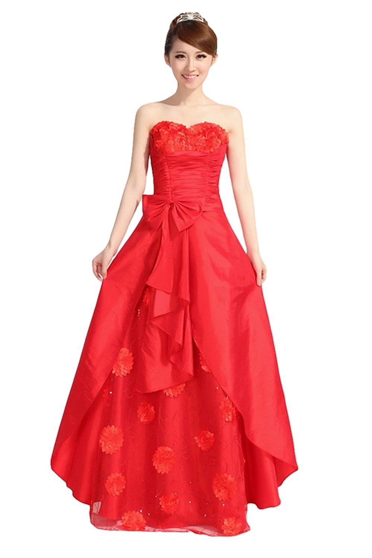 22e786a3e08 Amazon.com  Bridal Bridesmaid Toast Wedding Dress - Long Bra Fashion Evening  Dress  Clothing