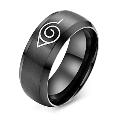 LUXXY Fashion Naruto Black Cool Men Jewelry Stainless Steel Anime