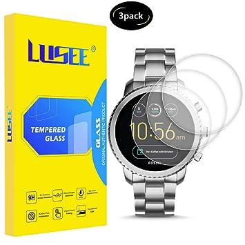 Lusee 3 Piezas Universal Protector de Pantalla para Smart Watch/Smartwatch diámetro 33mm Cristal Vidrio Templado [Dureza 9H] [Alta Definición] ...